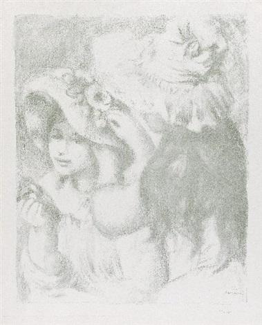 le chapeau épinglé. 2è planche by pierre-auguste renoir