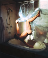 shower, 2005, from the struggle to right oneself series by kerry skarbakka