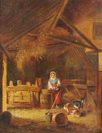 in the barn by jean baptiste van eycken