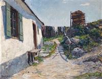 berghütte signiert by rudolf jacobi