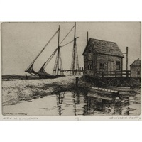 motif no. 1, menemsha (+ 2 others, smllr; 3 works) by leonard mersky