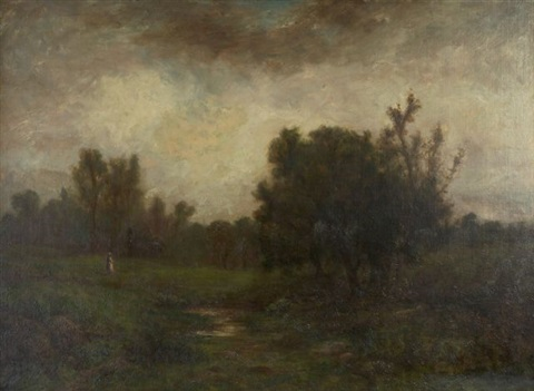 landscape with figure by george w picknell