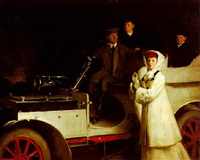 the carnegie family setting out for a pinic, with their 1905 lorraine dietrich by sholto johnstone douglas