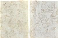 etudes de centaures et d'hercule (recto-verso) by ambrogio giovanni figino