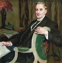 portrait of a dr hermann steininger by edward cucuel