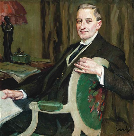 portrait of a dr hermann steininger by edward cucuel
