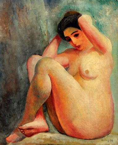 nu assis by moïse kisling