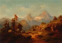 gebirgslandschaft mit watzmann by heiner baumgärtner