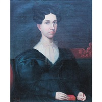 portrait of a lady with a hymn book by robert street