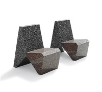granite chair (+ another; pair) by scott burton