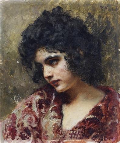 gypsy girl by konstantin egorovich makovsky