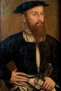portrait d'homme au béret noir by hans wertinger