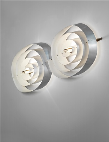 double spiral wall light from the scala cinema and concert hall århus theater by poul henningsen