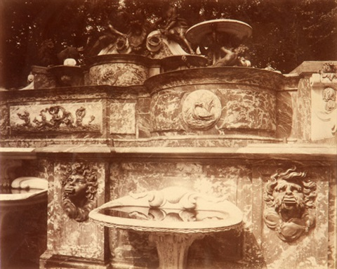 grand trianon le buffet by eugène atget