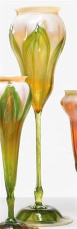monumental floriform vase by tiffany studios
