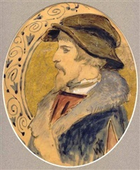 a portrait of a young man in profile by vasili fedorovich (george wilhelm) timm