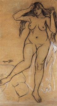 femme nue debout by suzanne valedon