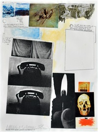 for peace litografia by robert rauschenberg