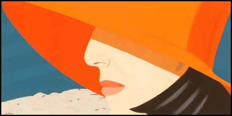 orange hat by alex katz