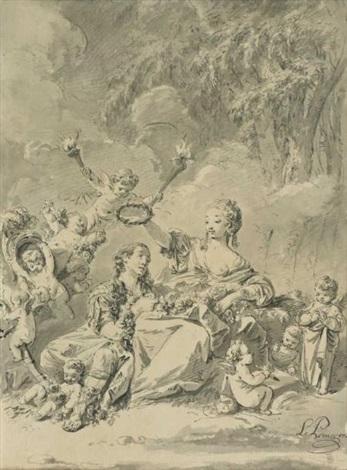 sujet allégorique by jean baptiste le prince