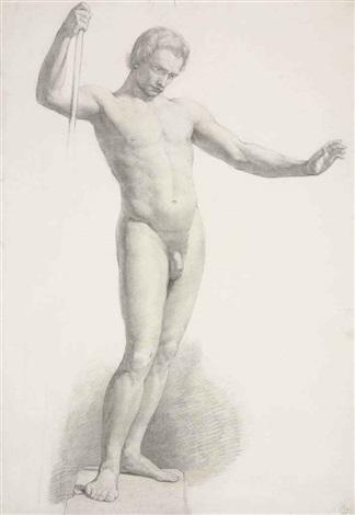 study of a male nude by sir john everett millais