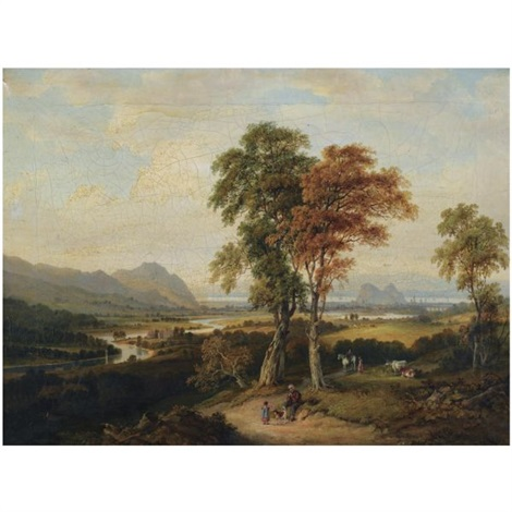 an extensive view of the clyde with dumbarton rock in the distance by jane nasmyth
