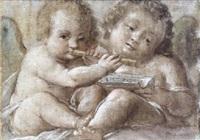 zwei musizierende putten by bernardino lanino