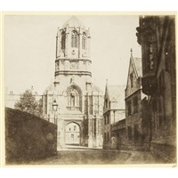 the gate of christ church, oxford by william henry fox talbot