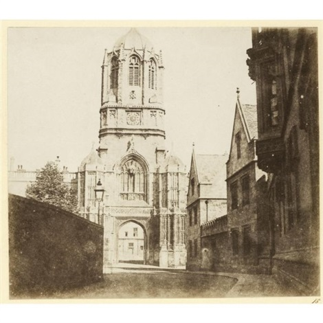 the gate of christ church oxford by william henry fox talbot