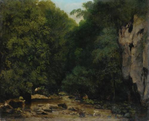 le ruisseau de plaisir fontaine dans la vallee du puits noir by gustave courbet