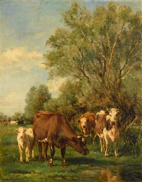 cattle watering by marie dieterle