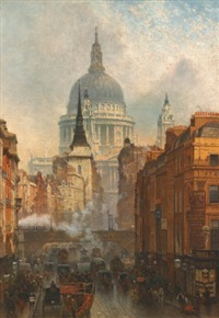 ludgate, evening by john o'connor