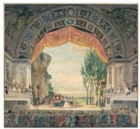 scène d'opéra comique dans un théâtre à la grecque by pierre françois léonard fontaine