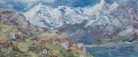 il lago bianco al passo di gavia by carlo aimetti