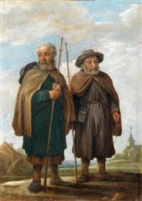 les deux pélerins by david teniers the younger
