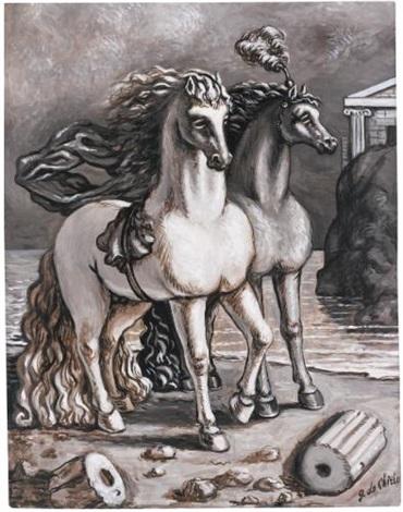 cavalli antichi by giorgio de chirico
