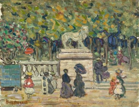 tuileries garden in the tuileries gardens by maurice brazil prendergast