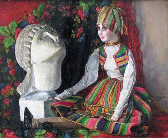 nature morte à la poupée by jozef andrzejewski