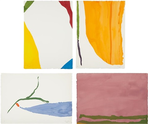 four pochoirs portfolio set of 4 by helen frankenthaler