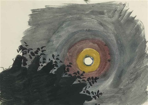 three ringed moon by charles ephraim burchfield