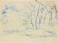 sous-bois by paul cézanne