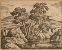 hillside brook by birger sandzen