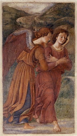 two angels in adoration by domenico ghirlandaio