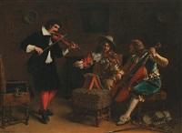 la leçon de musique by charles antoine joseph loyeux