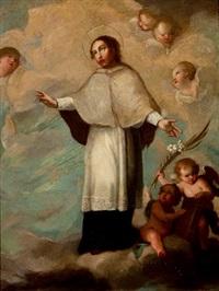 san bernardo rodeado de ángeles by michel cabrera