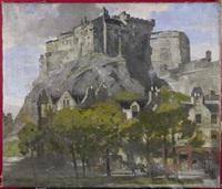 edinburgh castle from the grassmarket by john guthrie spence smith