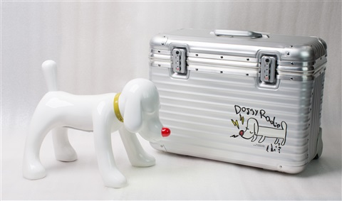 doggy radio plus rimowa suitcase by yoshitomo nara