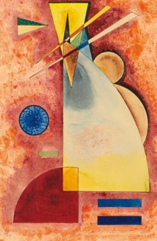 ineinander intermingling by wassily kandinsky