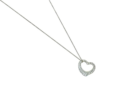 Platinum and diamond open heart pendant necklace by elsa peretti on platinum and diamond open heart pendant necklace by elsa peretti mozeypictures Image collections