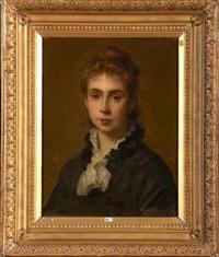 portrait de madame d'aoust by edouard agneessens